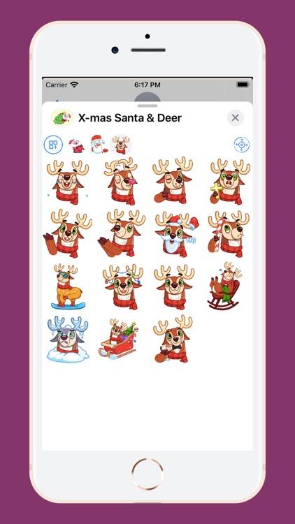 X-mas Santa & Deer screenshot-3