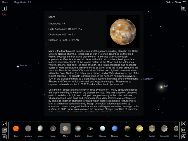 Star Rover HD - Night Sky Map Screenshot