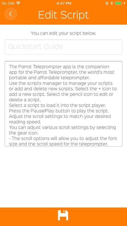 Parrot Teleprompter screenshot-4