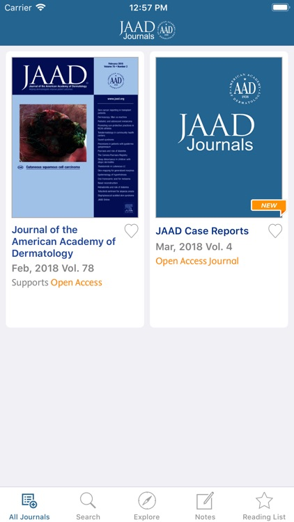 JAAD Journals screenshot-1