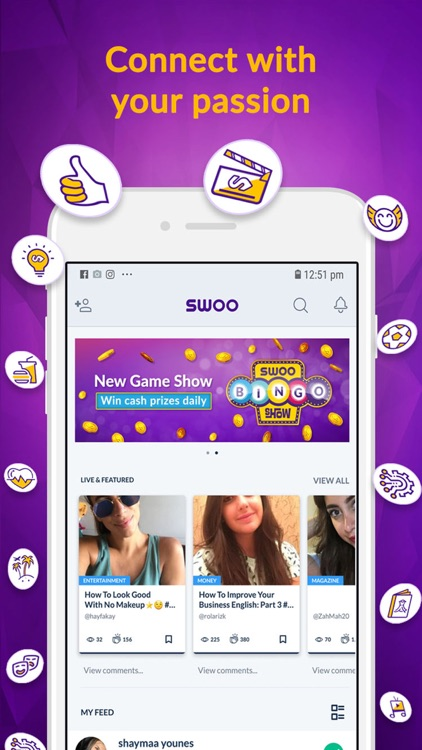 SWOO Live Games, Entertainment