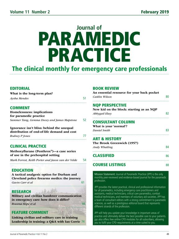 Journal of Paramedic Practice screenshot 7