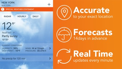 Screenshot for Weather Radar: AccuWeather in United States App Store