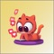 App Icon for Cat Lovely Red Sticker App in United Arab Emirates App Store
