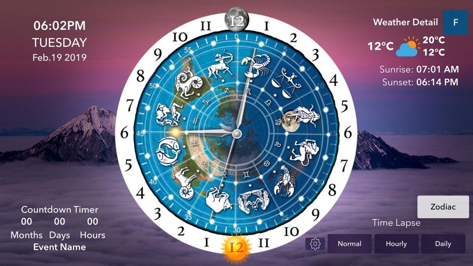 Screenshot #2 for Flat Earth Sun & Moon Clock