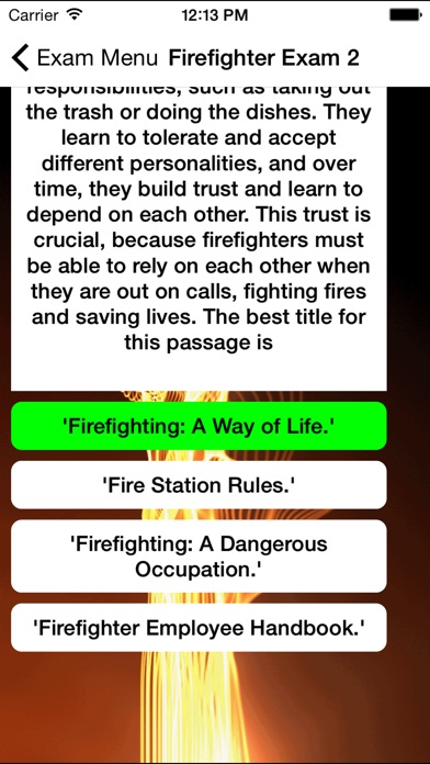 Firefighter Exam Buddy Screenshots