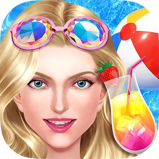 Pool Party Girl - Nail Salon