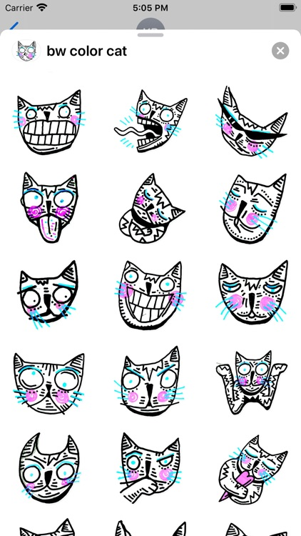 Drawn Cat - Emoji and Stickers