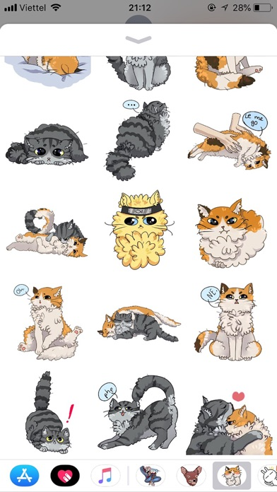 Cat Bigmoji Funny Stickers screenshot 3