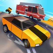 Block Racing Car: Crash Drive