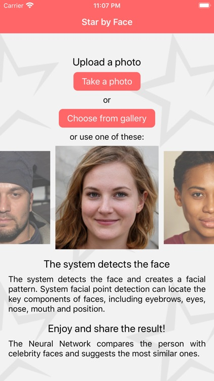 Star by Face celebs look alike