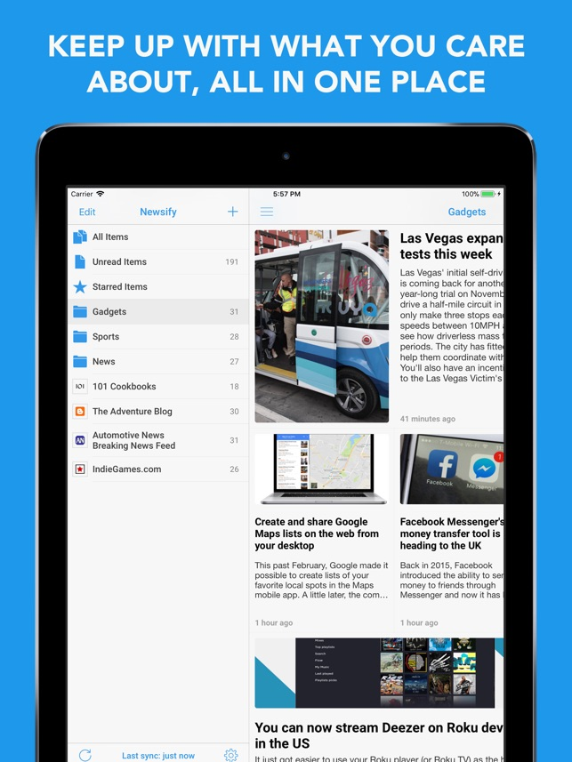 Newsify: RSS Reader Screenshot