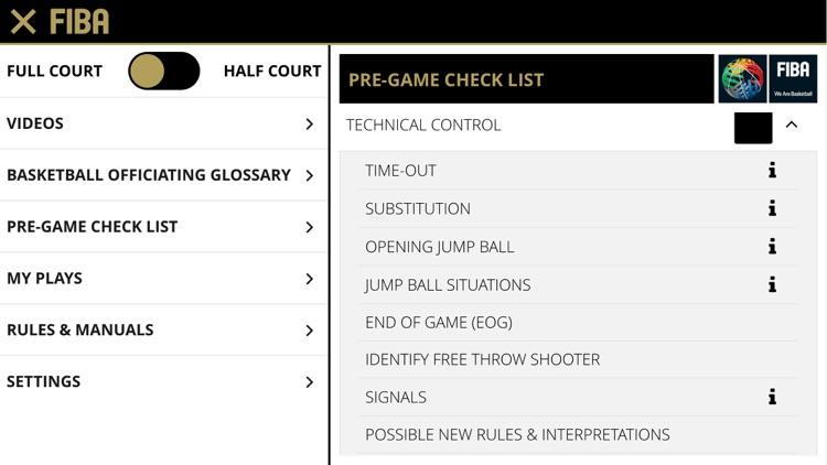 FIBA iRef Pre-Game