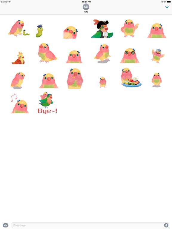 Animated Watercolor Parrot Gif screenshot 3