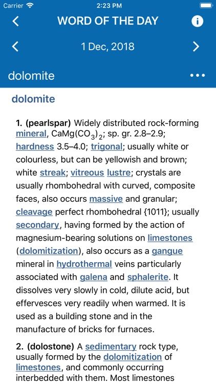 Oxford Dictionary of Geology screenshot-3