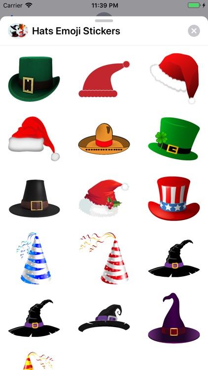 Hats Emoji Stickers