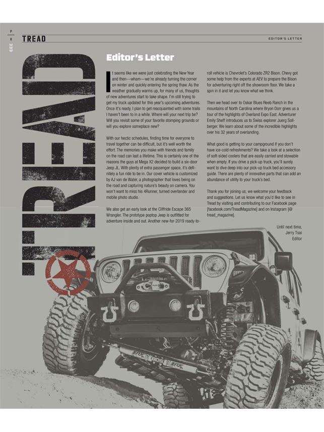 Tread Magazine dans l'App Store