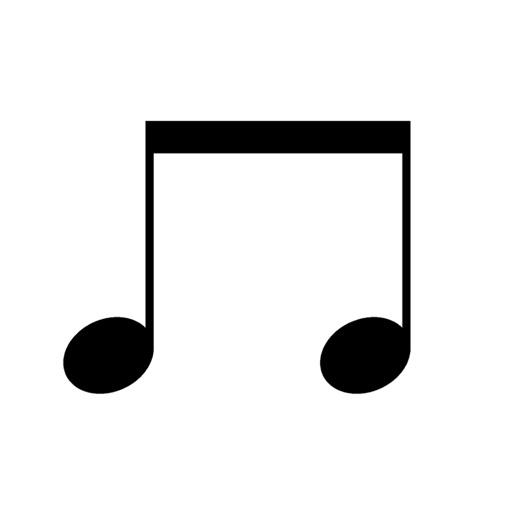 Musical note sticker