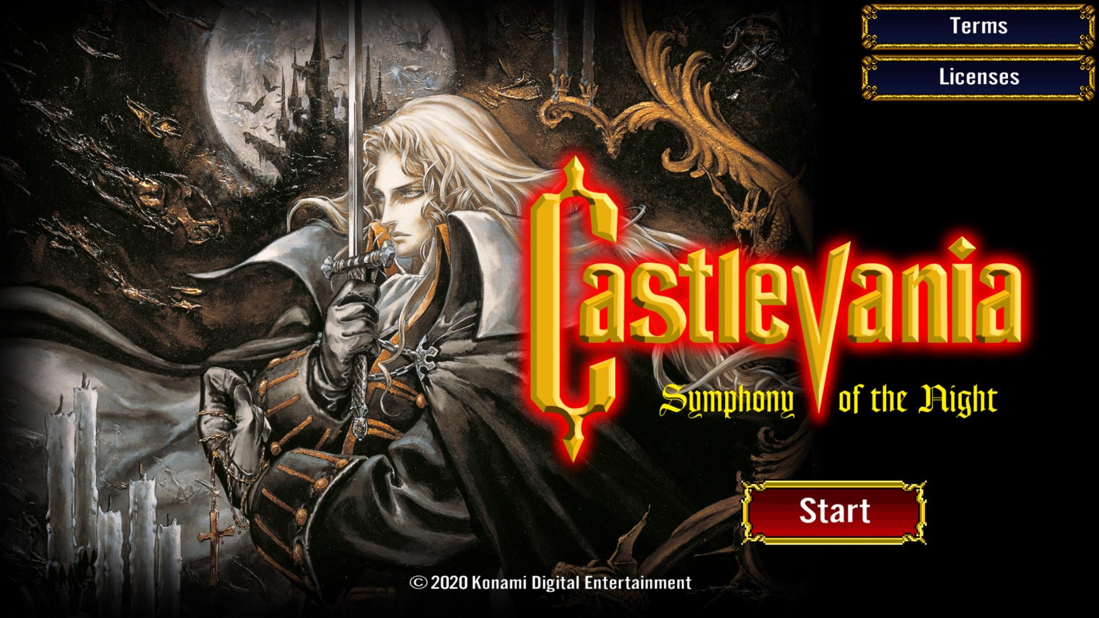 Screenshot do app Castlevania: SotN