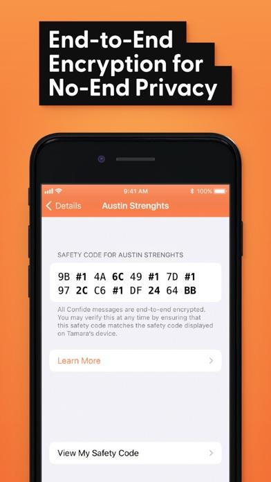 Confide - Private messenger Screenshot