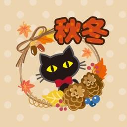 black cat (Autumn)
