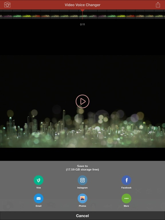 Screenshot #4 for Video Voice Changer-Fun Editor