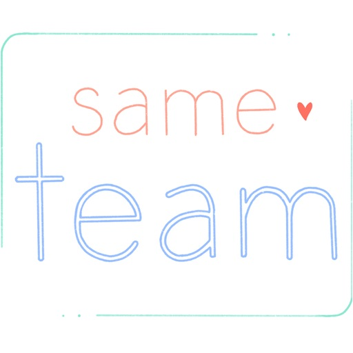 same team - stickers of love download
