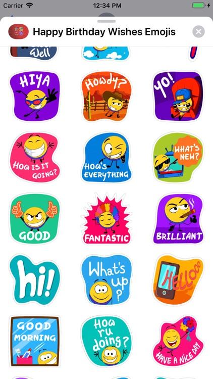 Happy Birthday Wishes Emojis screenshot-7