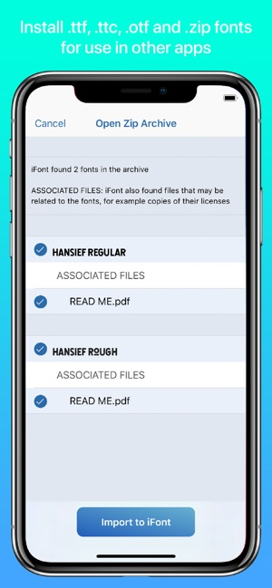iFont: find, install any font on the App Store