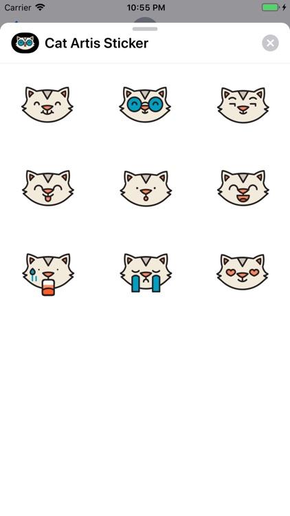 Cat Artis Sticker