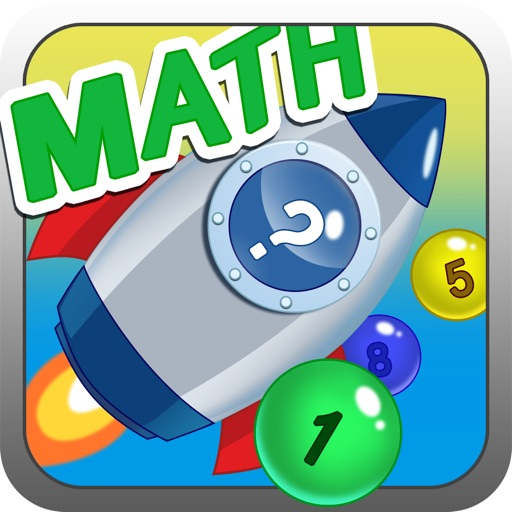 Math Number Bubble Rocket Game