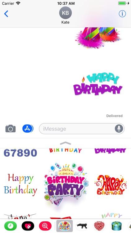 Happy Birthday Stickers Pro screenshot-4