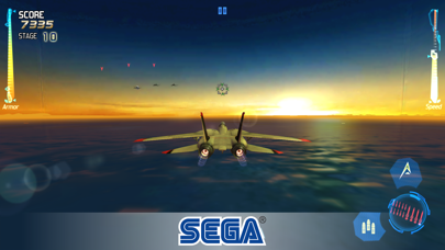 Screenshot from After Burner Climax