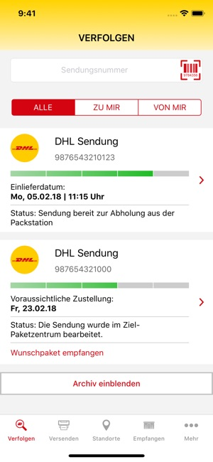 Dhl Paket Im App Store