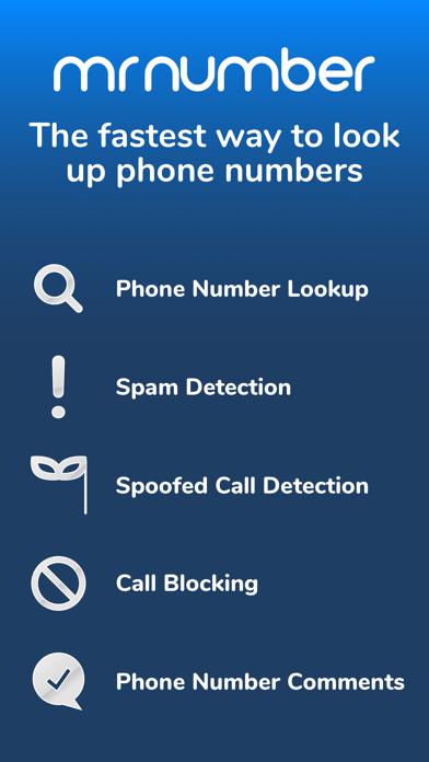 Mr. Number Lookup & Call Block Screenshot