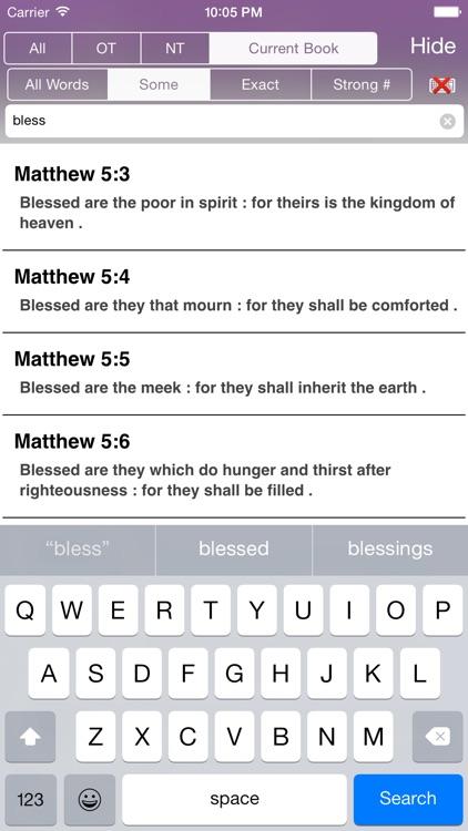 Touch Bible: KJV + Concordance screenshot-3