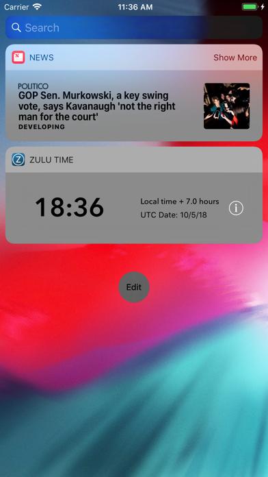 Zulu Time Widget - GMT/UTC Screenshot
