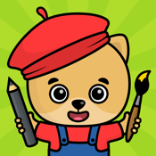 Kids doodle games and free drawing for toddlers icon