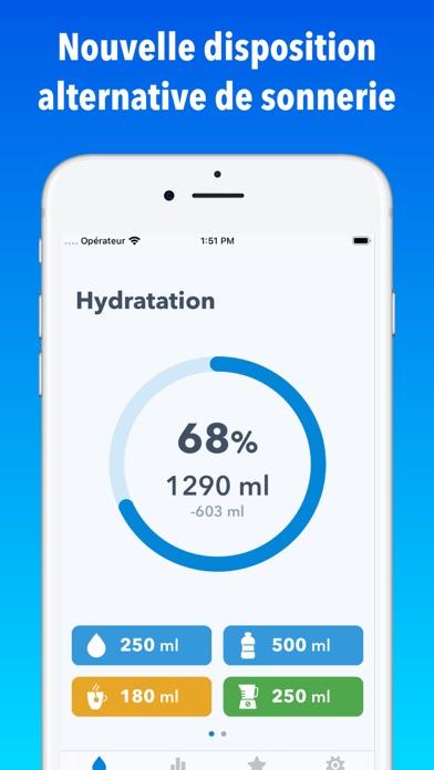 WaterMinder iphone captures décran