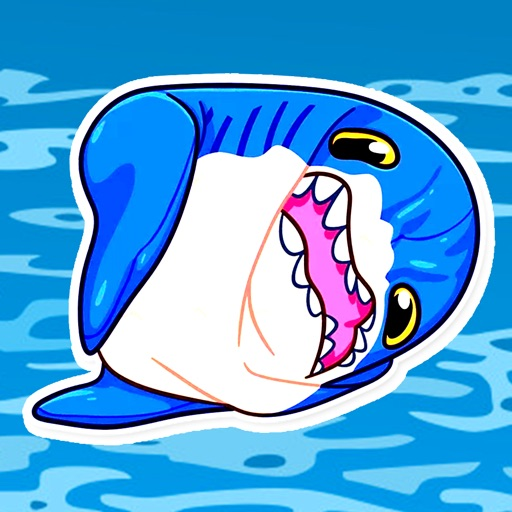 Hungry Shark Stickers download