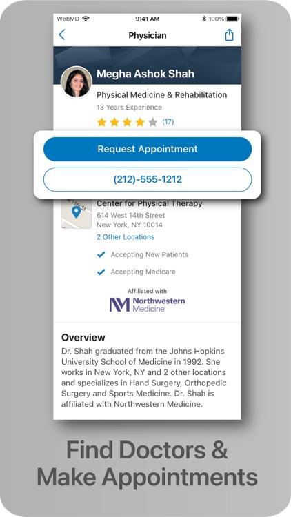 WebMD: Symptoms, Rx, & Doctors screenshot-3