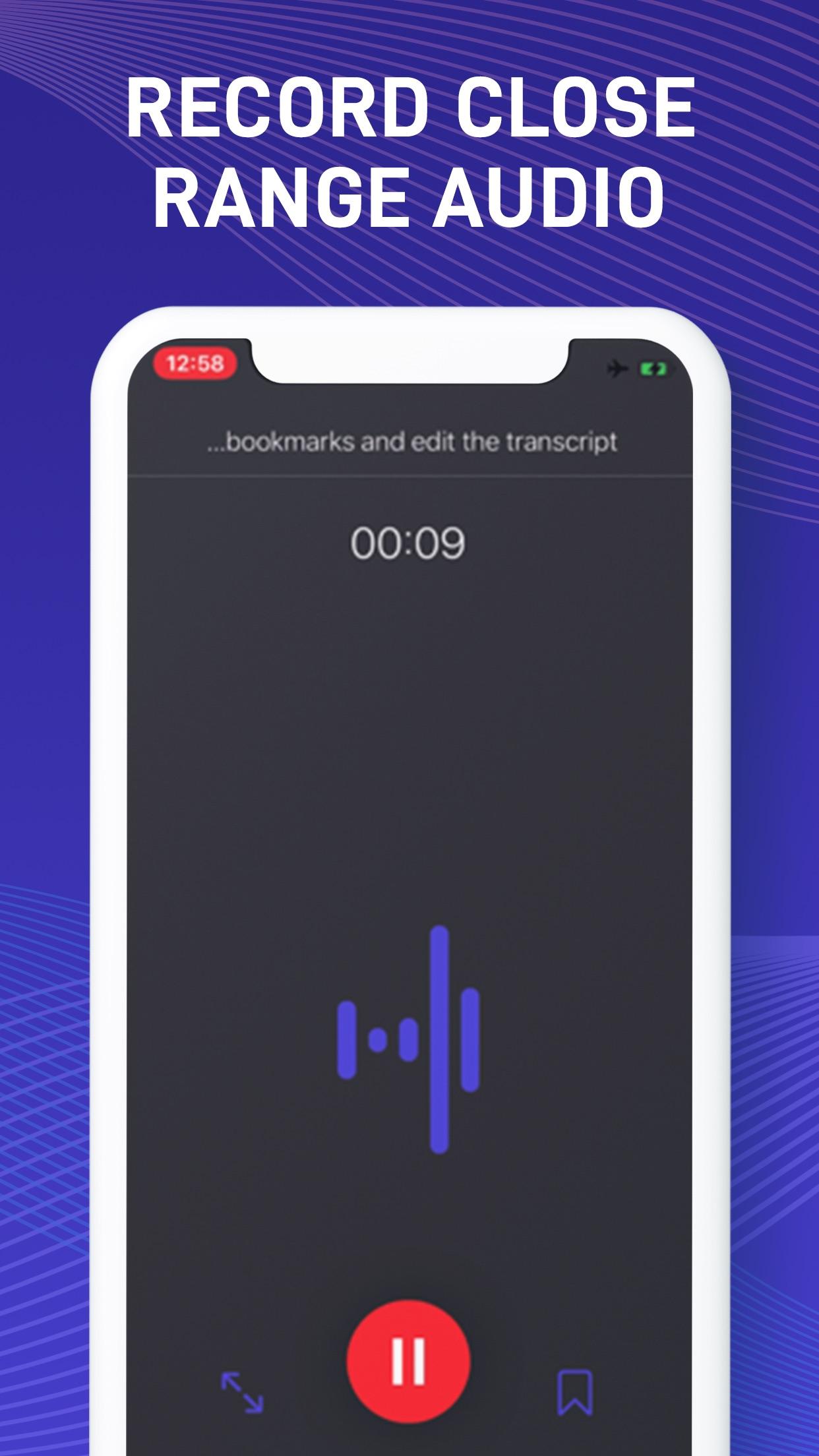 Screenshot do app Ada Dictation - Speech to Text