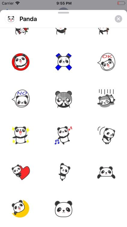 Lovely Panda Emoji Stickers