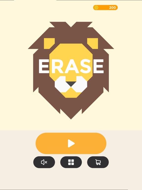 ERASE - coloring puzzle game на iPad