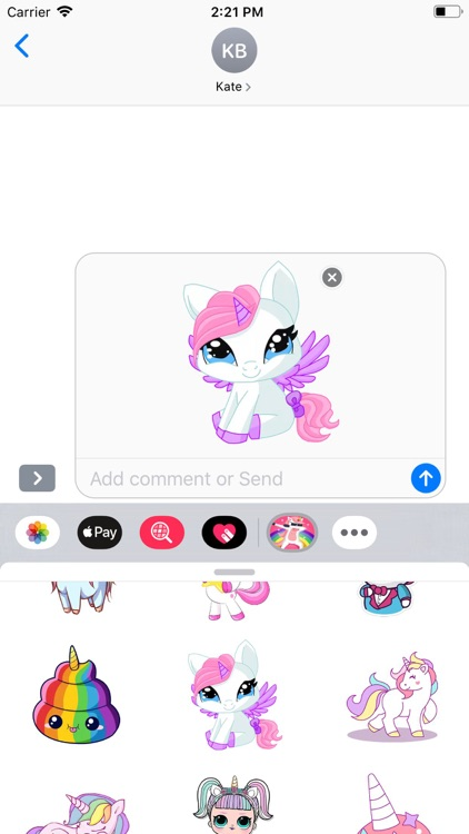 Horse Unicorn Stickers Pack screenshot-5