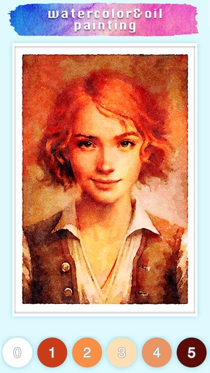 Watercolor & Oil painting game screenshot-4