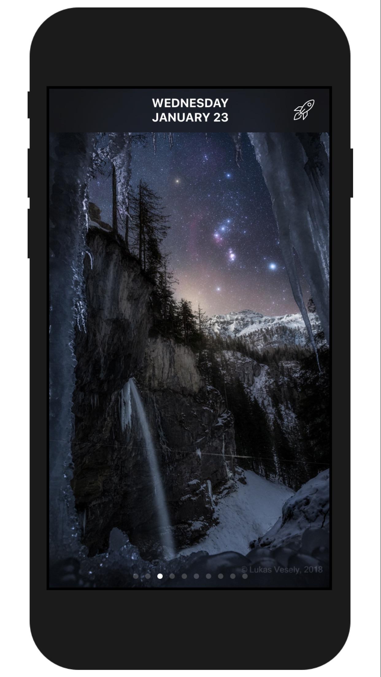 Screenshot do app Stellar Photo of the Day