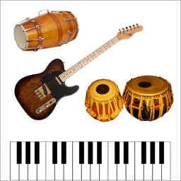 Tabla Drums Dhol Piano Guitar