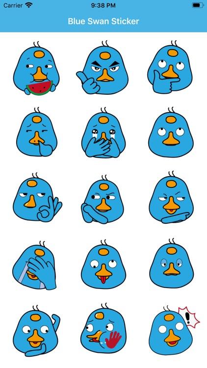 Blue Swan Sticker