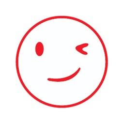 Funny smiley emojis stickers